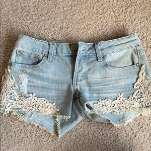 fancy denim shorts